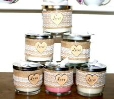 Large Hand Poured Vintage Style Candles, Soy wax, Scented with Essential Oils