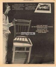 1979 TONY BANKS A Curious Feeling Vtg Album Promo Print Ad