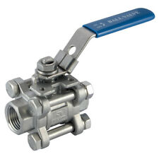 "316 STAINLESS STEEL VALVES - 4"" BSP BALL VALVE ISOPAD ""316"" 3PC 7-01941"