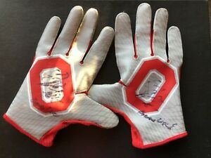 Corey Smith 2016 Ohio State Buckeyes Game Used Gloves Signed Autograph
