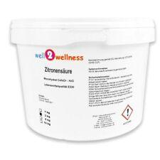 Well2wellness Acide Citrique Poudre 3,0 kg Monohydrate, Hausmittel, Du