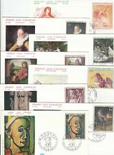 Stamps France 1970's period group of 17 FDC's showing art and artists, popular