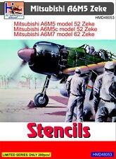 h-model decalcomanie 1/48 Mitsubishi A6M5 Zeke Stencil #48053