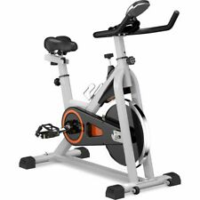 Indoor Exercise Bike Belt Driven Smooth With Oversize Soft Saddle Lcd Monitor
