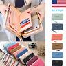 Women Lady PU Leather Wallet Purse Long Card Holder Clutch Box Bag Phone Handbag