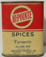 Old Vintage 1930s HI POINTE GRAPHIC SPICE TIN MEXICO MISSOURI DESLOGE MISSOURI