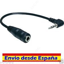 Cable ADAPTADOR de audio MINIJACK MACHO 2,5 mm JACK HEMBRA 3,5 mm FINO A GORDO
