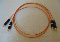 1 Meter 20 AWG RCA Audio Interconnect Cables Kapton Silver Plated Copper