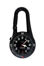 Entino Marca Negro Clip Mosquetón cara negra Fob Watch para enfermeros médicos