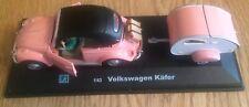 Hongwell Die Cast 1:43 Pink Volkswagen Kafer Beetle & Trailer/Caravan