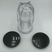 Blenpar Replacement Tall Cup Jar & Solid/Fine Shaker Lid,fit Magic Bullet MB1001