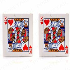 2 PACKS Plastic Coated Classic Playing Cards FULL 52 CARD DECKS Garden Party Fun