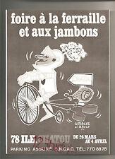 Foire à la ferraille et aux jambons Chatou Années 70's Advertising Vintage AD
