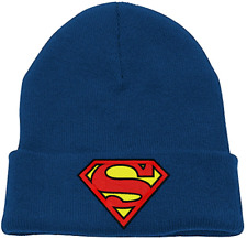 6d66a6cf899 Superman Blue Beanie Hat - Official Merchandise