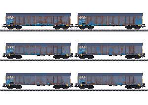 """MÄRKLIN 47189 Hochbordwagen-Set """"Holzhackschnitzeltransport"""" der NS Cargo #NEU#"""