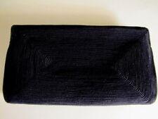 Vintage Black Corded Clutch Handbag. Imaculate