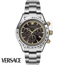 Versace VEV700419 Classic Chronograph braun silber Edelstahl Herren Uhr NEU