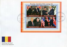 Chad 2018 FDC Donald Trump Visits Kim Jong Un 4v M/S Cover US Presidents Stamps