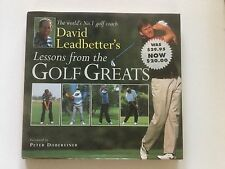 David Leadbetter's Lessons from Golf Greats by David Leadbetter (1995, Hardcover