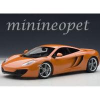 AUTOart 76006 MCLAREN MP4-12C 1/18 DIECAST MODEL CAR ORANGE