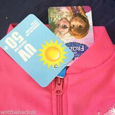 Peppa Pig Swimming Costume Sun Safe Suit Pool Swim Pink Zip Uv50 Girls Cars 2-3 Years