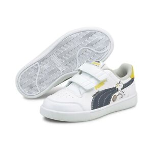 Puma Peanuts Shuffle V Ps Sneakers Trainers Casual Shoes Touch Fastener