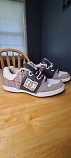 Men's DC Turbo 2 Sneakers Grey White Plaid Skateboard Shoes Size 9.5 302808 2010