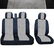 MERCEDES SPRINTER W901-W905 Sitzbezüge 2+1 Kopfstütze Schwarz /Grau DE LUX STOFF