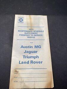 1973 British Leyland Maintenance Schedule Unused
