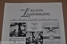 1928 ELGIN Watch advertisement, Legionnaire Wristwatch, for red-blooded men