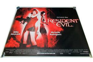 Resident Evil movie UK quad poster ORIGINAL D/S Jovovich Rodriguez Horror