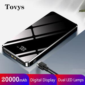 20000mAh Power Bank Portable Charger External Battery