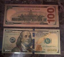 FENG SHUI $100 Dolares Dorado Para Suerte Golden $100 Dollars For Good Luck