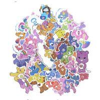 53pcs Care Bears Creative badgesDIY decorative stickers Cartoon for DIY PC wall