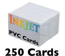 250 High-Quality Inkjet PVC Cards - For Epson & Canon Inkjet Printers