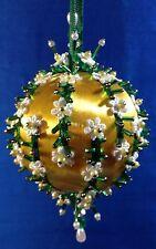 Kit DAISY CHAINS Christmas Ornament Satin Silk Ball Venice Lace Beads