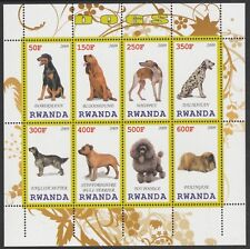 7323 Rwanda 2009 DOGS perf sheetlet containing 8 values unmounted mint