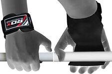 RDX Sollevamento Pesi Training Gym Pro Grip Cinghie Guanti Supporto Per Il Polso
