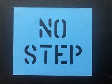 MILITARY VEHICLE ARMY NO STEP STENCIL (1inch letters)