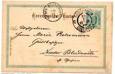 Austria1900 5 Heller Postal Stationery card from Teschen to Nieder Bludowitz