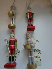 Brand New Wooden Nutcracker Christmas Tree Hanging Decorations x 4~ Soldiers