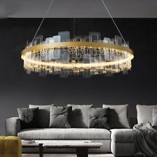 Post Modern Acrylic Chandelier Lighting Irregular Metal Lamp Living Room Remote