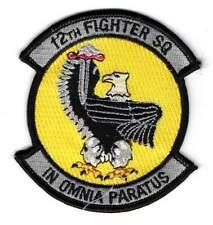 USAF patch - 12th Fighter Squadron  - 18th FW - Kadena AB (Japan) - F-15 Eagle