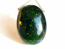 6.05ctw Ethiopian Welo Black Opal Flashing Fire Oval Briolette Gemstone Bead