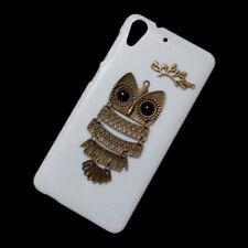 For HTC Desire 728 Cute Fashion Retro Metal Owl Branch Back Hard Skin Case Cover