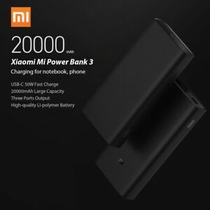 Xiaomi Power Bank 3 Pro 20000mAh Fast Portable Charger For Mobile Phones MacBook