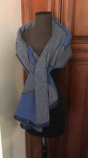 Lululemon Vinyasa Wrap Scarf Blue & Gray / Heathered / Parallel Striped NWT