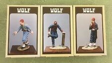 Lot of 3 Wolf American Civil War Horse Shoe Players 54mm Resin Character Figures