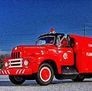RAREST - CHICAGO FIRE DEPT. 1957 INTERNATIONAL R190 FUEL TENDER - First Gear