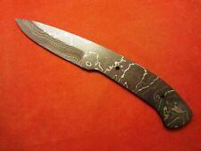 "ALABAMA DAMASCUS STEEL BILLET BLADE BLANK, KNIFE MAKING SUPPLIES - 7-7/8"" OAL"